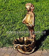 Садовая фигура подставка для цветов Саша и Маша, фото 3