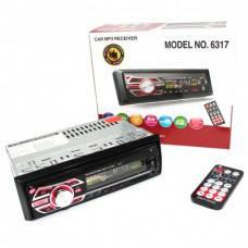 Автомагнитола Pioneer 6317 магнитола без диска 1DIN MP3 RGB универсальная магнитола автомобильная с подсветкой