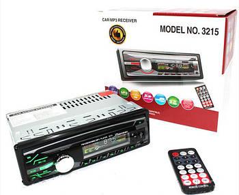 Магнитола без диска  1DIN MP3-3215 RGB панель + пульт управления популярная с подсветкой