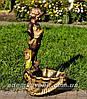 Садовая фигура подставка для цветов Саша и Маша, фото 5