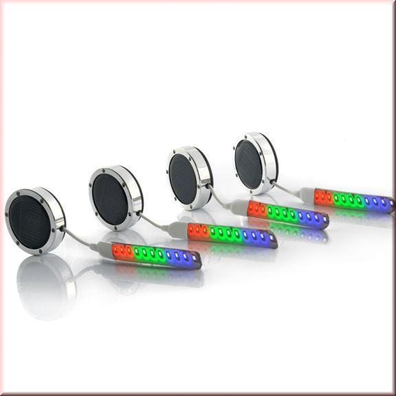 Светодиодная подсветка дисков, беспроводная LED насадки на колеса 4 шт в наборе