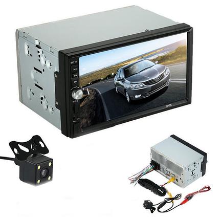 """2Din Pioneer 7012 7"""" Экран Магнитола USB+Bluetoth+Камера заднего вида + рамка"""