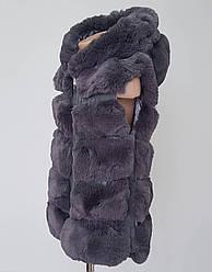 Меховая детская жилетка на молнии