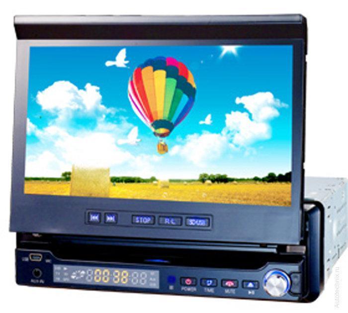 Магнитола в автомобиль1 din автомагнитола Pioneer DA-766 GPS с выезжающим экраном
