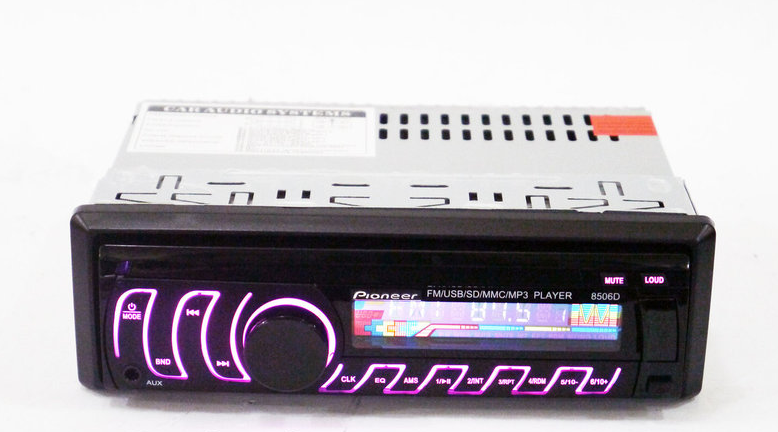 Автомагнітола Піонер 1DIN MP3-8506D RGB/Знімна панель магнітола Pioneer