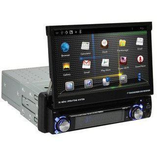 Мультимедийная автомагнитола 1DIN DA-7001 с выдвижным экраном 7 дюймов
