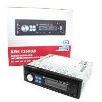 Автомагнитола универсальная  1DIN DVD DEH-1350MP DVD/CD/MP3+USB+Sd+MMC съемная панель