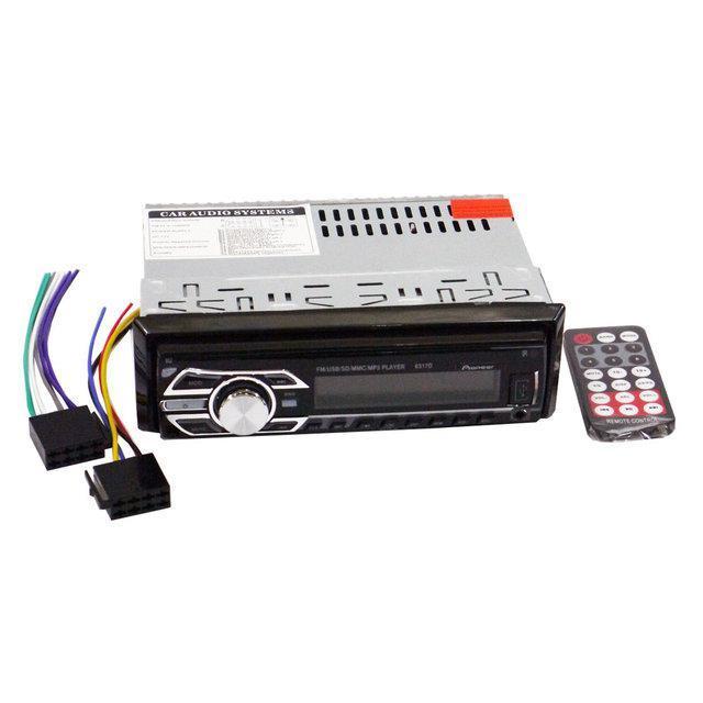 Автомагнитола 1 дин в машину 6317D RGB панель/cьемная панель MP3+USB+Sd+MMC