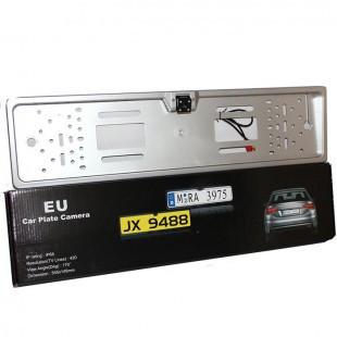 Автомобільна камера заднього виду номерна A58 silver з LED підсвічуванням камера в номер