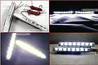 LED Авто Фара Ходовые огни DRL-9W  9 диодов фары в машину дневные огни, фото 2