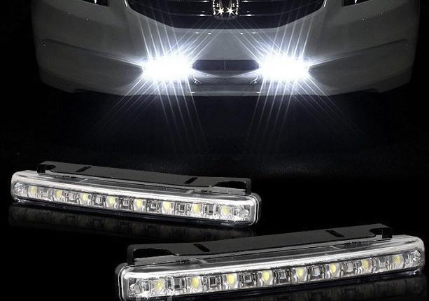LED Авто Фара Ходовые огни DRL-9W  9 диодов фары в машину дневные огни