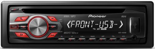 В машину магнитола pioneer DEH-1400UB - автомагнитола DVD/CD/MP3+USB+Sd+MMC съемная панель