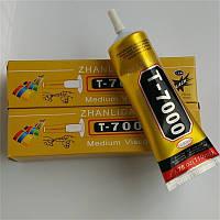 Клей-герметик Zhanlinda T 7000 черный 110 мл, для приклеивания тачскрина, дисплея