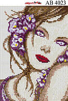 Алмазная вышивка АВ 4023 Девушка, фото 1