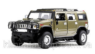 Машинка р/в 1:24 Meizhi ліценз. Hummer H2 металева (темно-зелений)