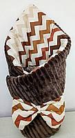 Конверт на виписку из роддома зима + шапка