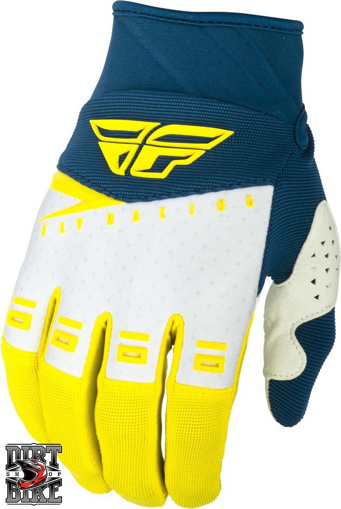 Мото перчатки FLY F-16 Yellow/White/Navy 06