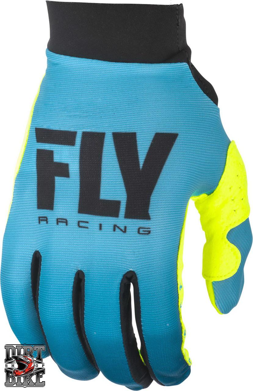 Мото перчатки женские FLY PRO LITE Blue/Hi-Vis 06