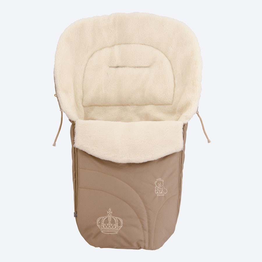 Конверт на овчине Baby Breeze 0356 Коричневый (Baby Breeze 0356 капучино)