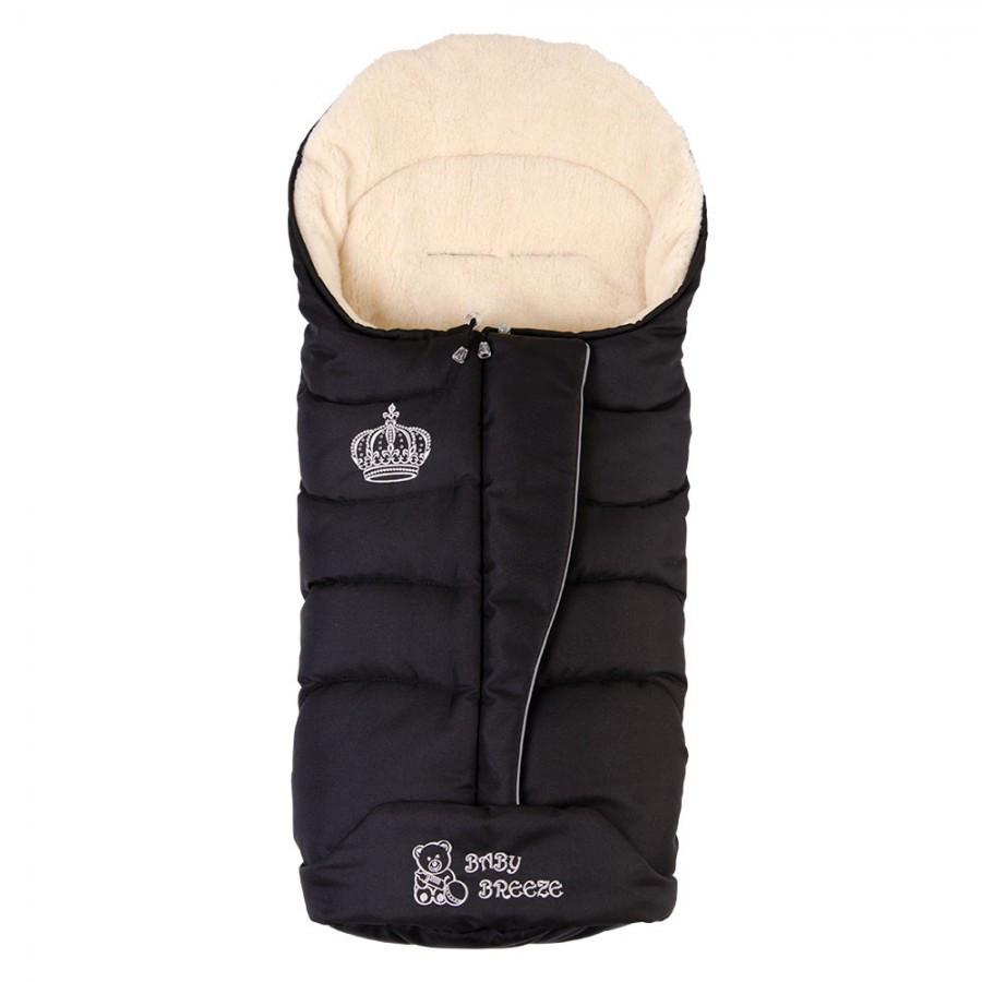 Конверт на овечьей шерсти Baby Breeze Черный (0358)