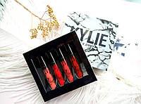 Набор матовых помад Kylie Velvet Liquid Lip Kollection White 4 шт жидкие помады Кайли Велвет, реплика