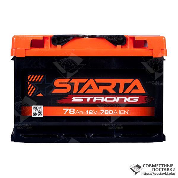 Аккумулятор Starta Strong 78 А.З.Е. с круглыми клеммами | R, EN780 (Европа)