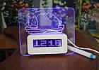 Светодиодные часы с доской для записей, фото 6
