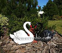 Садовые фигуры Лебеди черный и белый
