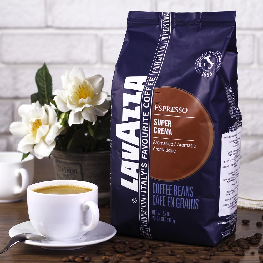 Кофе в зернах - Lavazza Super crema - 1 кг - PoliMAG в Киеве