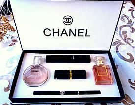 Подарочный набор парфюмерии Chanel 5 в 1, набор духов Шанель, набор косметики Шанель реплика, фото 3