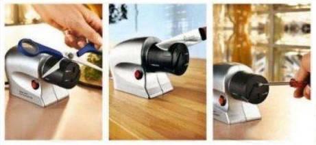 Электрическая точилка для ножей и ножниц Sharpener, универсальная точилка Акция!, фото 3