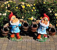 Садовые фигуры подставка для цветов Гномы водоносы