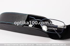 Чёрный вертикальный футляр для очков на магните со строчкой, фото 3