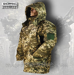 Костюм зимний пиксель ЗСУ мембранный бушлат и штаны Patrol Jacket ММ-14