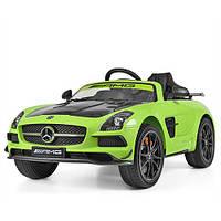Детский электромобиль Mercedes-Benz M 2760 EBLR-5-2: 2.4G. EVA-колеса, кожа - ЗЕЛЕНЫЙ КАРБОН- купить оптом, фото 1