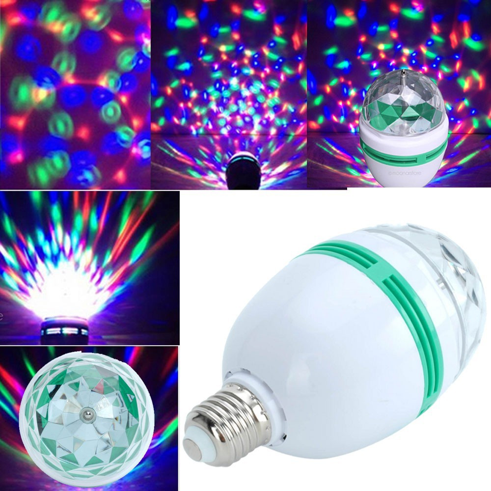 Светодиодная вращающаяся диско лампа LED Full Color Rotating Lamp