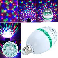Светодиодная вращающаяся диско лампа LED Full Color Rotating Lamp, фото 1