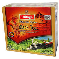 Чорний цейлонський чай пакетований Luitage (Луитаж) у пакетиках 2г*100пак