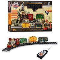 Детская железная дорога, Дым + Пульт ДУ (550 см - 4 вагона) (6 АА+ 2 АА)