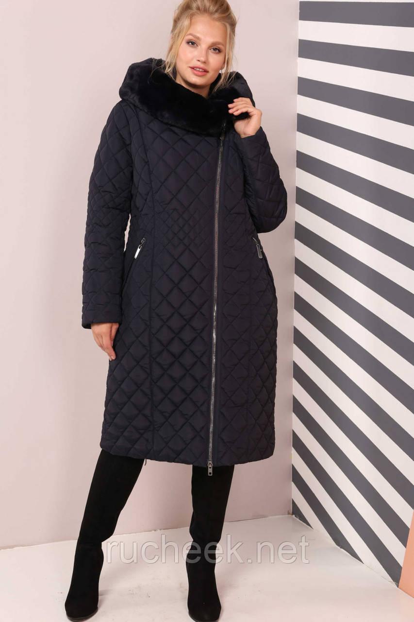 d47a3561cb4 Модное женское зимнее пальто Камалия большие р-ры 50 - 64