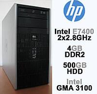 HP Compaq - 2 ЯДРА 2x2.8GHz/ 4GB DDR2/ 500GB HDD Системный блок, Компьютер, ПК