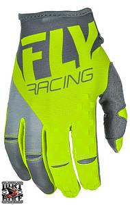 Мото перчатки  FLY KINETIC Hi-Vis/Grey XXL