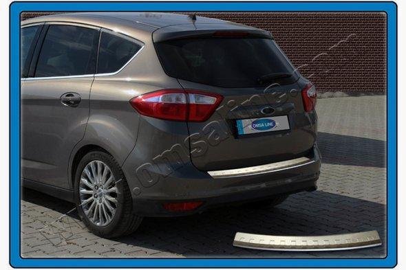 Накладка на задний бампер OmsaLine (нерж.) - Ford C-Max 2010+ гг.