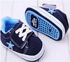 Детские синие голубые пинетки кеды, кроссовки для новорожденного мальчика 3, 6, 9, 12, 18 месяцев