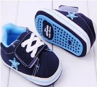 Детские синие голубые пинетки кеды, кроссовки для новорожденного мальчика 3, 6, 9, 12, 18 месяцев, фото 1