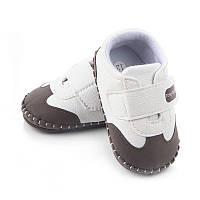 Детские пинетки кеды, кроссовки для новорожденного мальчика 3, 6, 9, 12, 18 месяцев, фото 1