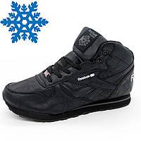Зимние кроссовки Reebok classic полностью черные с мехом р.(40, 41, 42 813dec23797
