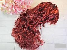 Карнавальный парик кучерявый длинный, 53 см (баклажан, блонд)