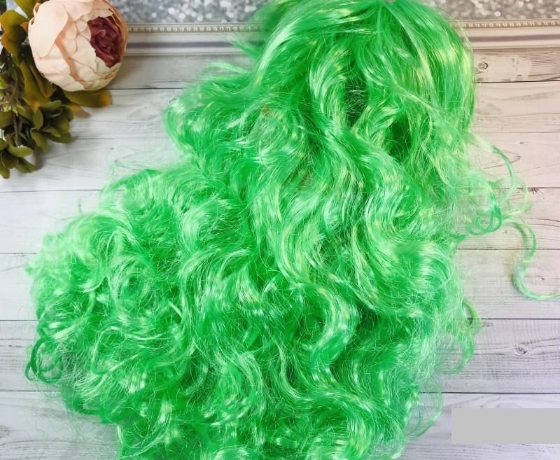 Карнавальный парик волна 50 см (красный, синий, желтый, салатовый)