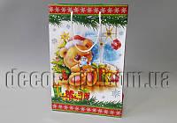 Подарочные новогодние картонные пакеты 368х246х86мм/1шт 31.047